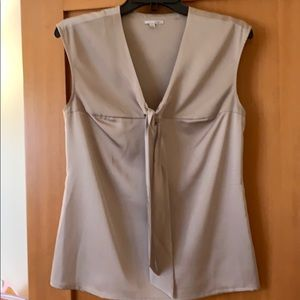 Uec Halogen blouse side zip. Front tie detail.